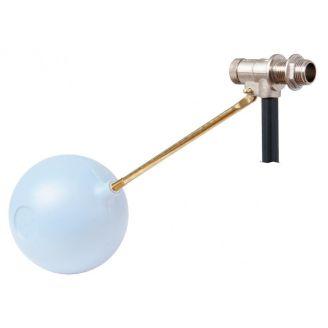 """Поплавковый клапан FARG 1/2"""" штам. латунь, седло нерж. сталь, штанга латунь длина 270 мм"""