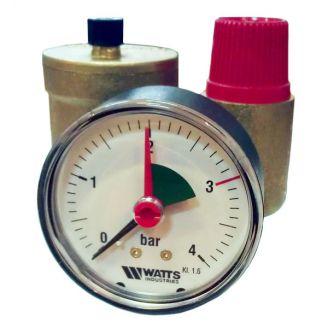 """Группа безопасности котла Watts KSG 30N (3 бар G 1/2"""") до 50 кВт"""