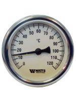 Термометр Watts F+R801 80/75 (120 C) с погружной гильзой