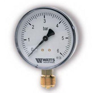 "Манометр Watts F+R200 50/6 радиальный G 1/4"" от 0 до 6 бар"