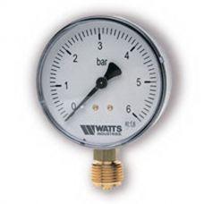 "Манометр Watts F+R200 63/6 радиальный G 1/4"" от 0 до 6 бар"
