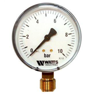 "Манометр Watts F+R200 100/10 радиальный G 1/2"" от 0 до 10 бар"