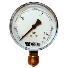 "Манометр Watts F+R200 80/16 радиальный G 1/2"" от 0 до 16 бар"
