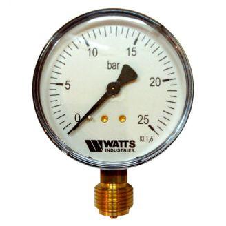 "Манометр Watts F+R200 80/25 радиальный G 1/2"" от 0 до 25 бар"