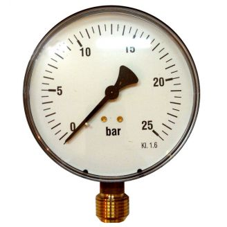 "Манометр Watts F+R200 100/25 радиальный G 1/2"" от 0 до 25 бар"