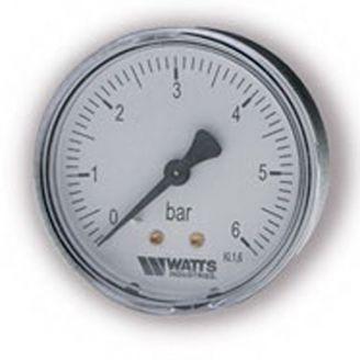 "Манометр Watts F+R100 50/6 аксиальный G 1/4"" от 0 до 6 бар"