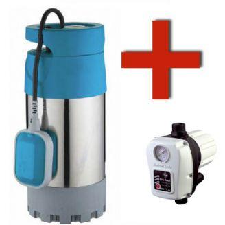 Комплект насос для колодца Waterstry WSN 1000D + реле давления Brio TANK
