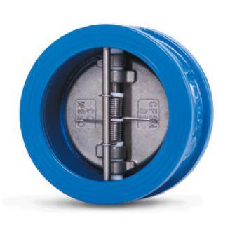 Клапан обратный Water Technics DFC WT DN 80 двухстворчатый, межфланцевый, чугун