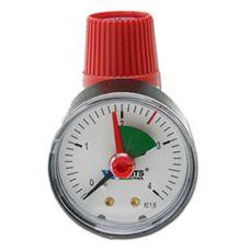 """Клапан предохранительный Watts SVM 30 c манометром для отопления (1/2"""" х 3/4"""",3 бар)"""